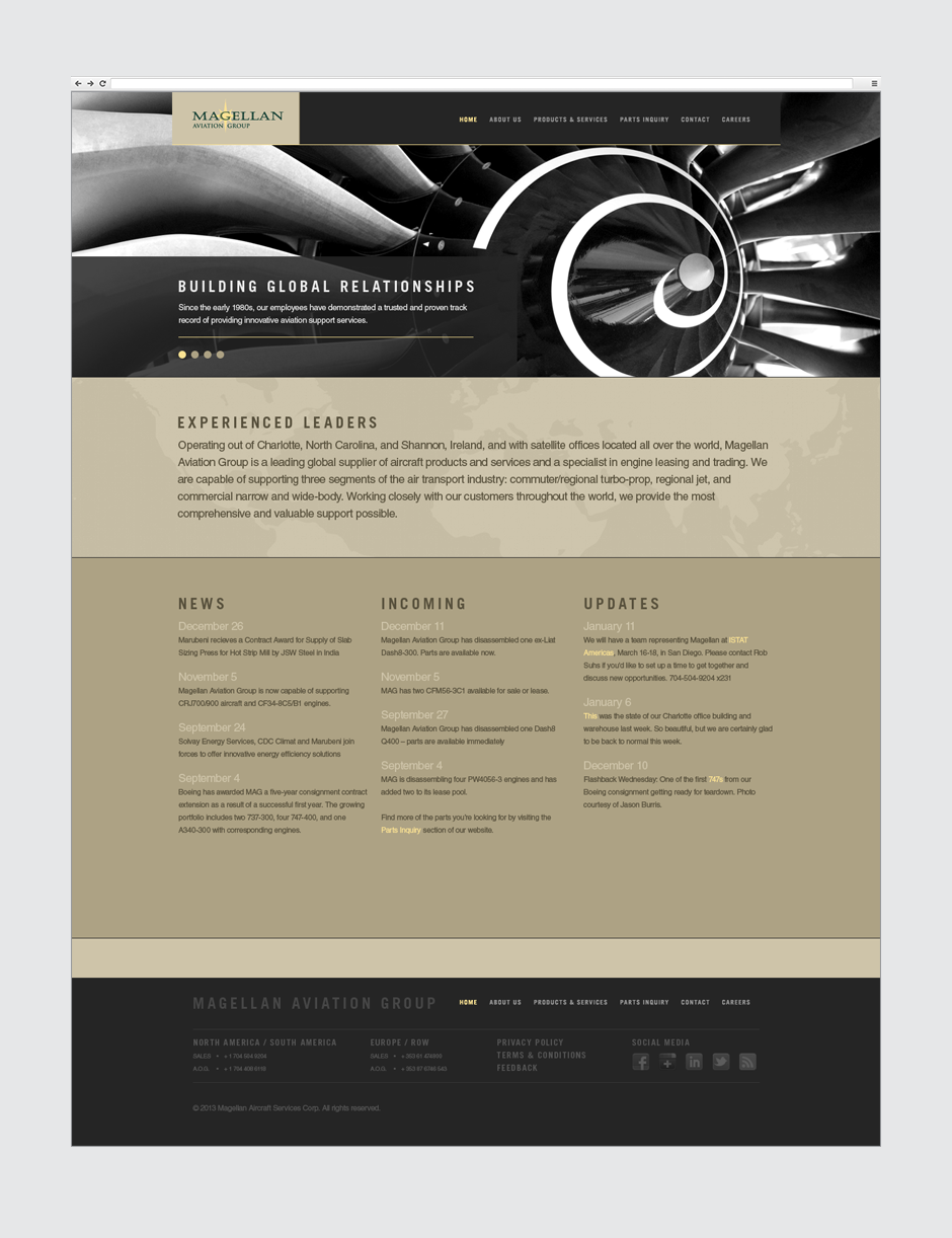 Magellan Aviation Group Website Design